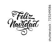 feliz navidad lettering | Shutterstock .eps vector #725249086
