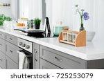 modern furniture in kitchen | Shutterstock . vector #725253079