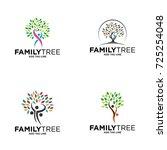 family tree concept icon logo...   Shutterstock .eps vector #725254048