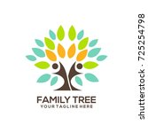 family tree concept icon logo... | Shutterstock .eps vector #725254798