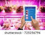 smart agriculture in futuristic ...   Shutterstock . vector #725256796