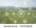 internet of things industrial... | Shutterstock . vector #725256826