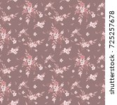 fashionable pattern in small... | Shutterstock . vector #725257678