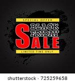 black friday sale background ...   Shutterstock .eps vector #725259658