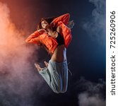 young modern style dancer... | Shutterstock . vector #725260906