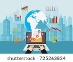 email marketing. global market...   Shutterstock .eps vector #725263834