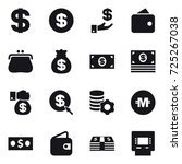 16 vector icon set   dollar ... | Shutterstock .eps vector #725267038
