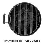 barbecue grill on white... | Shutterstock . vector #725268256