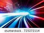 abstract motion speed railway... | Shutterstock . vector #725272114