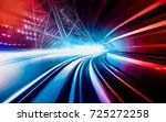 abstract motion speed railway... | Shutterstock . vector #725272258
