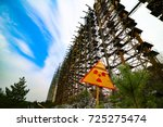chernobyl exclusion zone.... | Shutterstock . vector #725275474