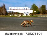 chernobyl exclusion zone....   Shutterstock . vector #725275504