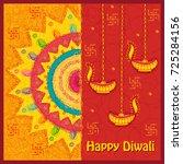 vector design of happy diwali... | Shutterstock .eps vector #725284156