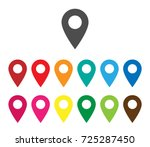colorful map pointer icon.... | Shutterstock .eps vector #725287450