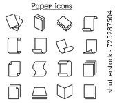 paper icon set in thin line...