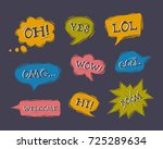 set of speech bubbles in comic... | Shutterstock .eps vector #725289634
