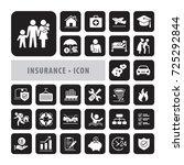insurance icon set vector... | Shutterstock .eps vector #725292844