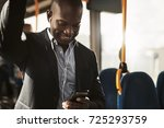 young african businessman... | Shutterstock . vector #725293759