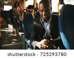 smiling young african...   Shutterstock . vector #725293780