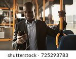 young african businessman... | Shutterstock . vector #725293783