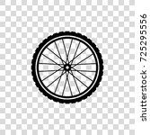 outline bicycle wheel vector... | Shutterstock .eps vector #725295556