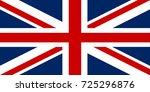 united kingdom flag. great... | Shutterstock .eps vector #725296876