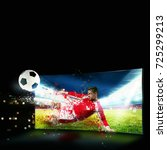 realism of sporting images... | Shutterstock . vector #725299213