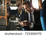 smiling young businessman...   Shutterstock . vector #725300470