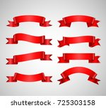 vector ribbons banners isolated ... | Shutterstock .eps vector #725303158