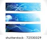 abstract digital web header set ...   Shutterstock .eps vector #72530329