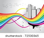 abstract colorful city...
