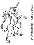 a unicorn rampant standing from ... | Shutterstock .eps vector #725305438