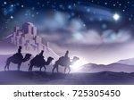 a nativity christmas... | Shutterstock .eps vector #725305450