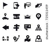 16 vector icon set   flag ... | Shutterstock .eps vector #725311459