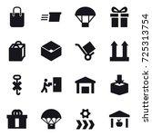 16 vector icon set   shopping... | Shutterstock .eps vector #725313754