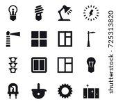 16 vector icon set   bulb ...   Shutterstock .eps vector #725313820