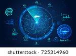 digital medical interface of... | Shutterstock .eps vector #725314960