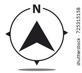 north direction compass icon  ... | Shutterstock .eps vector #725315158