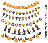 halloween pattern brush garland ... | Shutterstock .eps vector #725318938