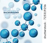 science background with atoms... | Shutterstock .eps vector #725319256