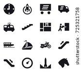 16 vector icon set   clock ... | Shutterstock .eps vector #725321758