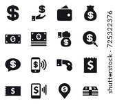 16 vector icon set   dollar ... | Shutterstock .eps vector #725322376