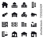 16 vector icon set   home ... | Shutterstock .eps vector #725322439