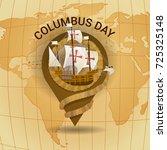 happy columbus day america...   Shutterstock .eps vector #725325148