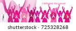 breast cancer awareness month... | Shutterstock .eps vector #725328268