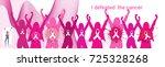 breast cancer awareness month... | Shutterstock .eps vector #725328268