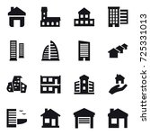 16 vector icon set   home ... | Shutterstock .eps vector #725331013
