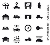 16 vector icon set   factory... | Shutterstock .eps vector #725331028