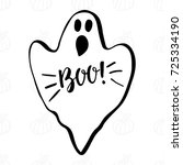 ghost with lettering boo  and...   Shutterstock .eps vector #725334190