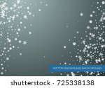 snowflakes on transparent... | Shutterstock .eps vector #725338138